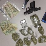 Items found during a search of a vehicle in North Vernon Friday. Photo courtesy of North Vernon Police Department.