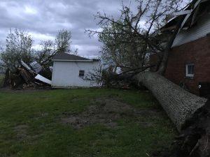 Storm damage photo courtesy of Bartholomew County Sheriff's Department.